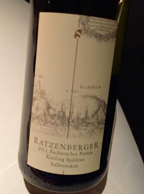 riesling spatlese bacharacher posten, ratzenberger