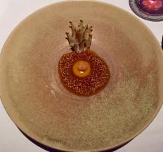 charred onions & quail egg, roasted bone marrow, aged funeral, onion vinaigrette with lemon thyme