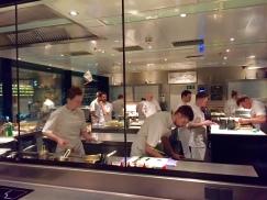 kitchen in action