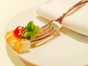 gulf shrimp & avocado salsa