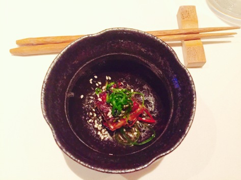 bbq eel with sesame and yuzu