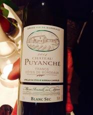 chateau Puyanche, Cotes de Bordeaux Blanc 2014
