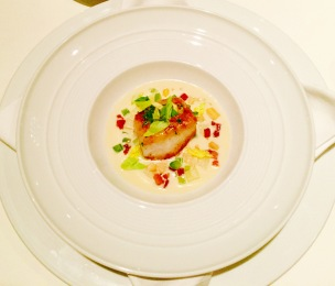 'atlantic cod' - clam chowder, celery and bacon