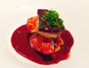 'five-spice lobster' - port-poached figs and foulard duck foie gras