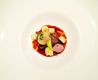 'pot au feu' - beef short rib with root vegetables and sautéed bone marrow