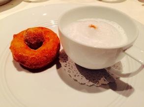 'coffee & donuts' - cappuccino semifreddo with cinnamon-sugar donuts