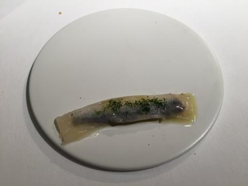 pasta viva con anchoas en vinagre