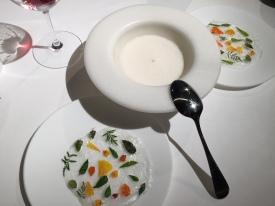 roseton de azucar con mousse de licores