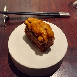 sea urchin on grilled bread