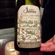 Domaine Jamet, cotes du rhone blanc, rhone, france 2014