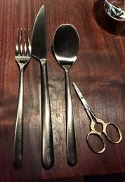 unique silverware pieces all around