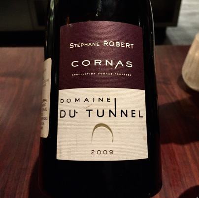 Domaine du Tunnel, Cornas, rhone, france 2009