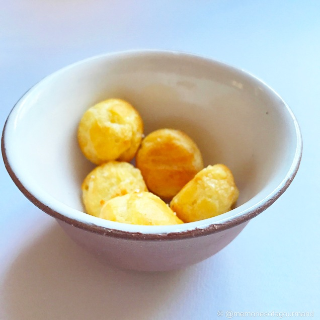 'Gougeres' with grated gruyere. 2006