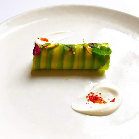 'Prawn' roulade with avocado and yogurt. 2007
