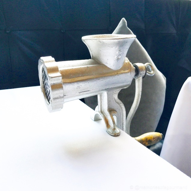 Grinder attached to the table