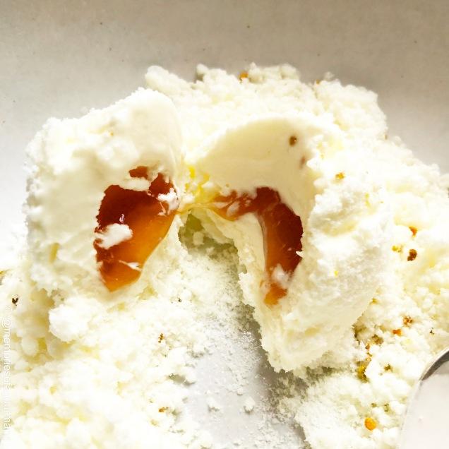 'Milk & Honey' 🍯 🐝 with dehydrated milk foam and bee pollen. 2010