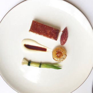 'Suckling Pig' confit with rhubarb and onions. 2006