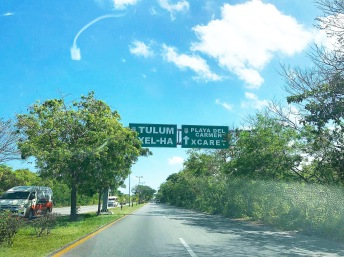 on the road to Tulum