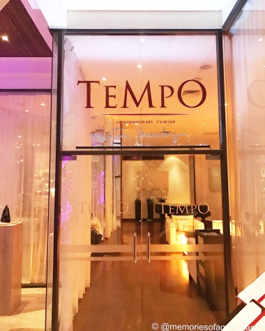 Entrance at Tempo by Martin Berasategui