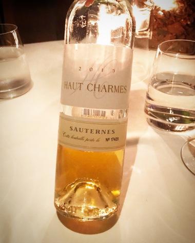2010, Haut Charmes, Sauternes