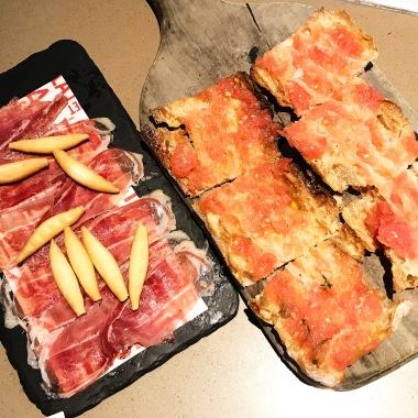 Jamon Iberico de Bellota with Pan con Tomate
