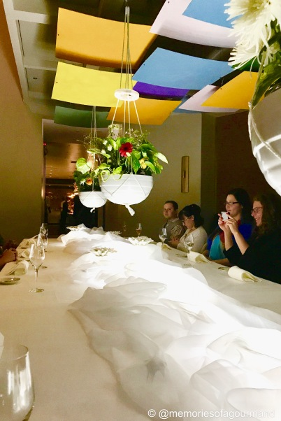 Table set up at the new Alinea