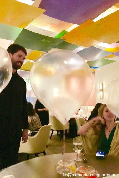 balloon: helium, grape
