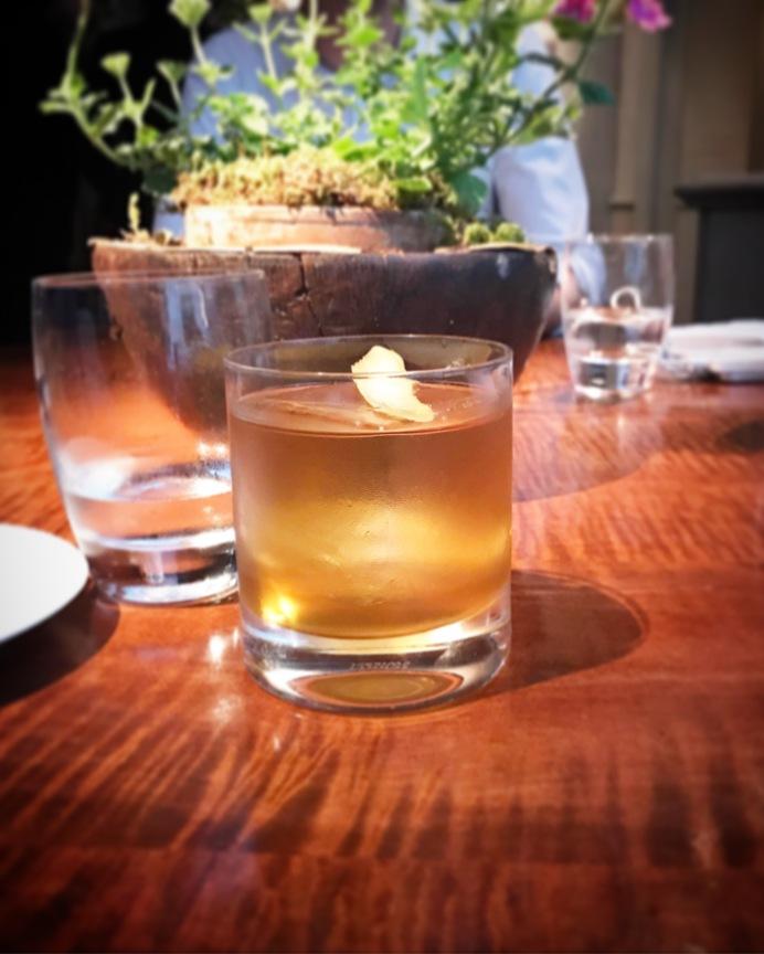 MONEYPENNY Bunnahabain 12-year Scotch, Suze Gentian Liqueur, Carpano Antica Sweet Vermouth