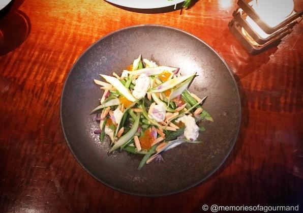 Asparagus Salad, Almonds and Tartar Sauce
