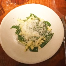 Cavatelli, Pesto, Pine Nuts and Arrowhead Spinach