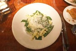 Cavatelli, Pesto, Pine Nuts and Arrowhead Spinach