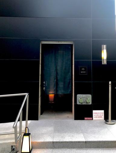entrance at at Tempura Matsui