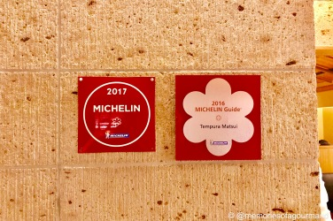 Tempura Matsui holds 1 Michelin Star