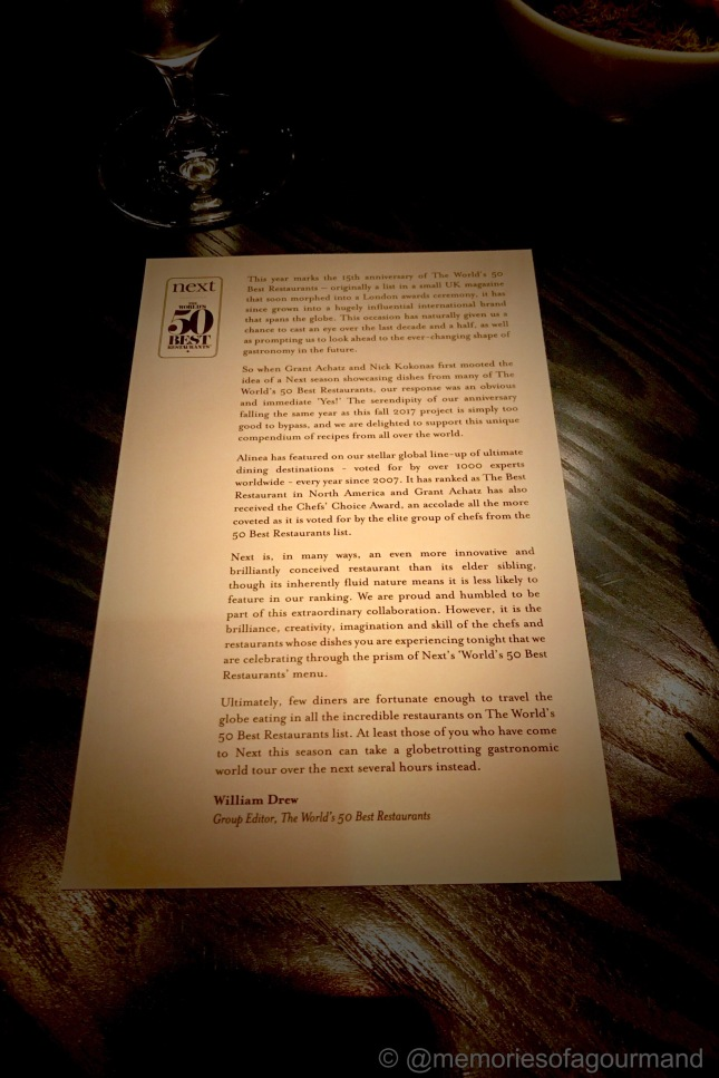 A script written by William Drew, the group editor at The World's 50 Best