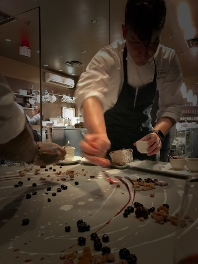 Chef Tomaska plating 'Chocolate'