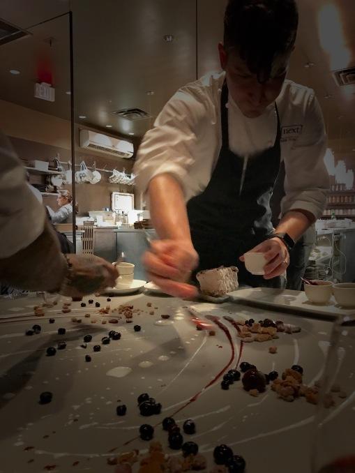 Chef Tomaska plating 'Chocolate'