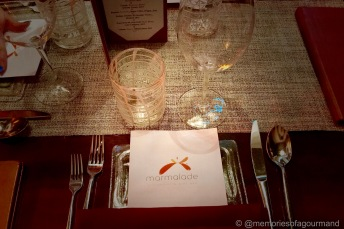 Marmalade restaurant table setting