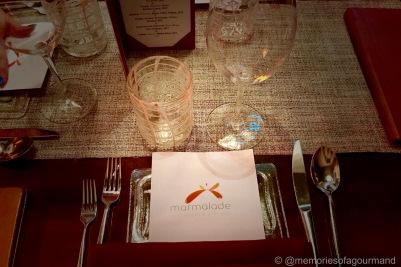 Marmalade restaurant table setting