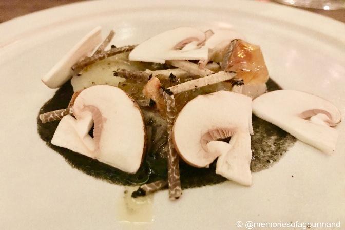 raw Orkney scallop, hazelnut, clementine & Wiltshire truffle