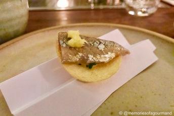 cornish sardine sashimi & worcestershire sauce