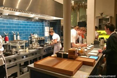 open kitchen at work