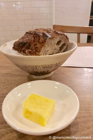 sourdough and unsalted butter