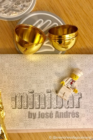 Golden Eggs at minibar by Jose Andres