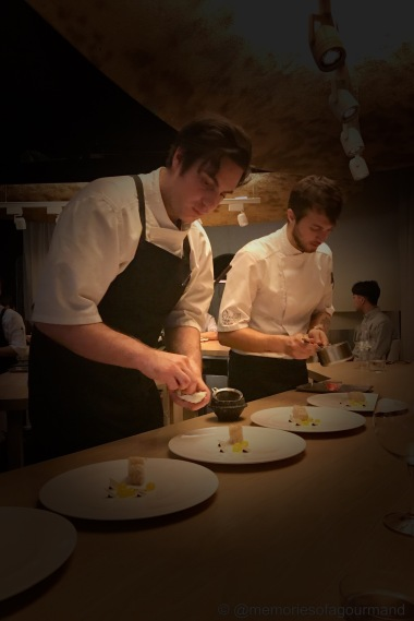 sous chef luke plating the monkfish dish