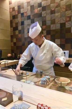 Chef Saito in action