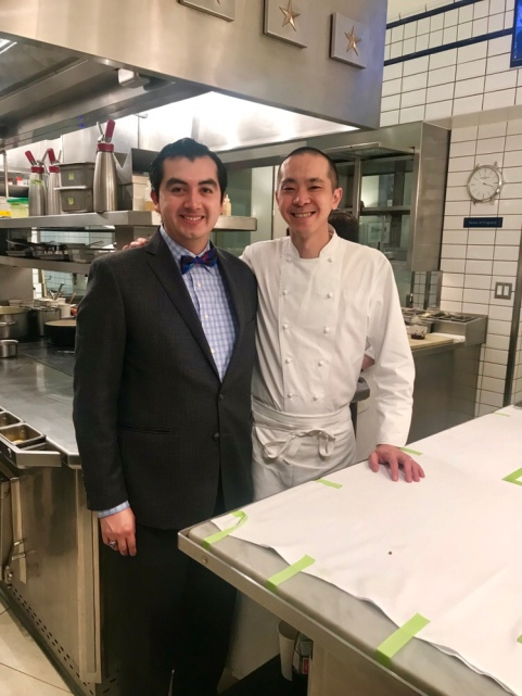 with Chef Corey Chow in Per Se's Kitchen