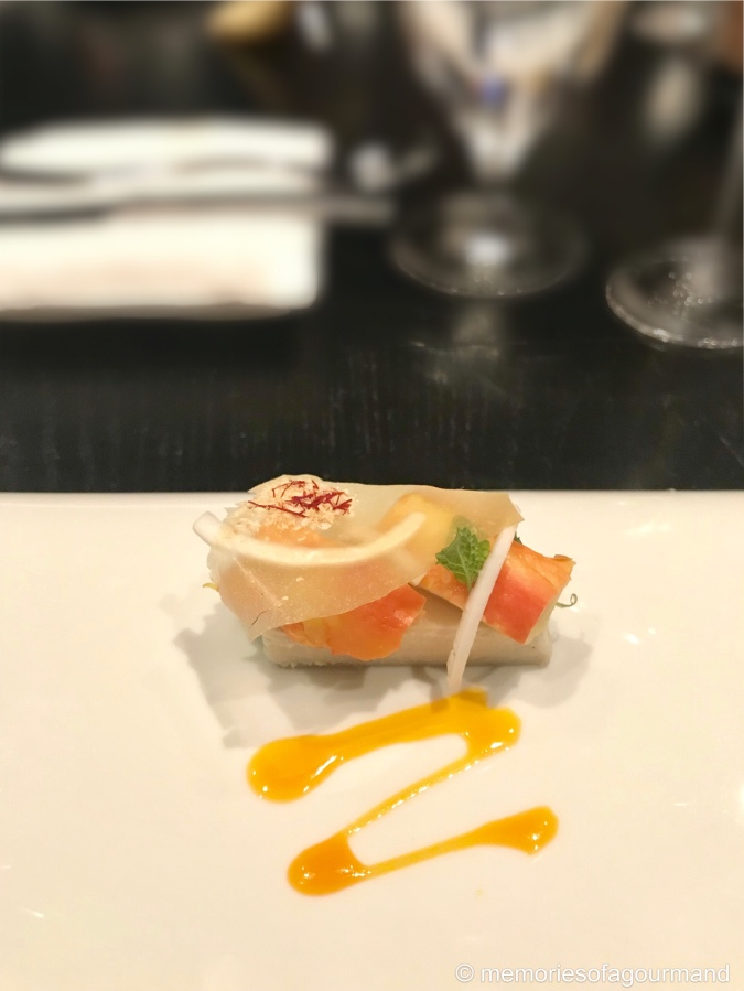 Crab - cashew, young coconut, parsnip